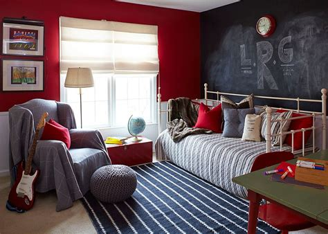 daybed and chalkboard wall create a more informal and