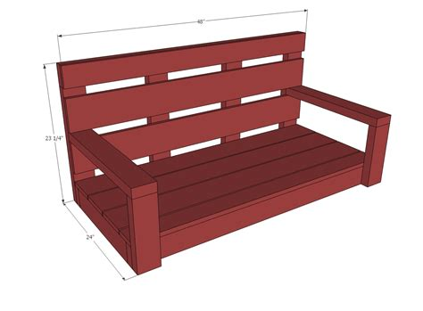 bench swing frame plans ana white shanty2chic porch swing diy projects