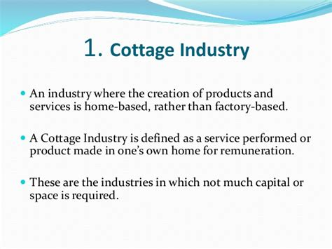 Exle Of Cottage Industry uberfy