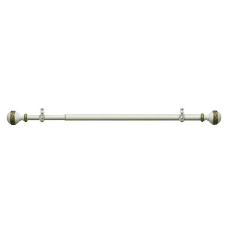 elegant drapery rods elegant home fashions curved shower rod kit in satin
