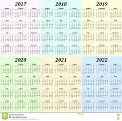 Calendar 2018 To 2020 Six Year Calendar 2017 2018 2019 2020 2021 And 2022