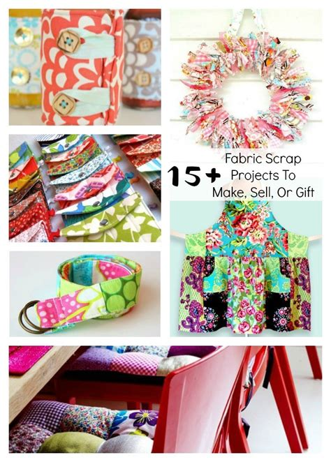 fabric crafts to sell fabric scrap projects to make sell or gift beatnik