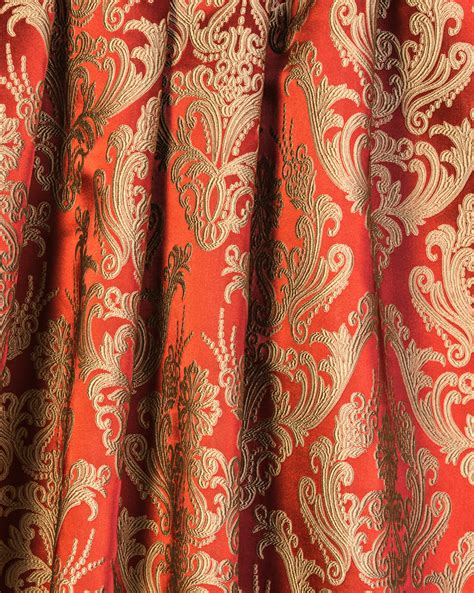 red and gold curtains styles classic style brocade brocade curtain