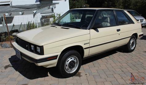 renault alliance tan 1985 renault amc encore hatch back 39 000 orginal miles