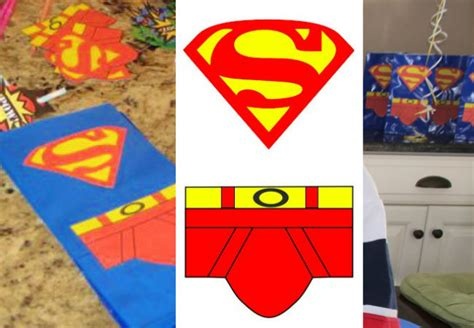 Goodie Bag Resleting Banner Superman 8 superman birthday happy and blessed home