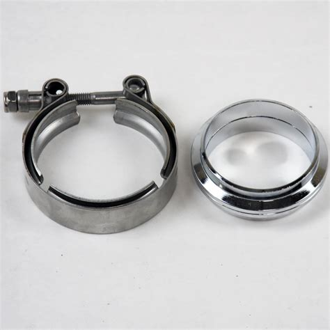 2 5 Stainless V Band Flange 2 5 quot 63mm stainless steel flat flanges with v band cl
