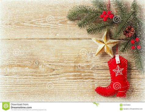 Charming 50 Off Christmas Decorations #2: Christmas-background-cowboy-shoe-decoration-toys-wood-texture-text-63245862.jpg