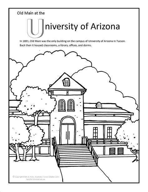 Arizona State Coloring Pages Coloring Pages Arizona Coloring Page