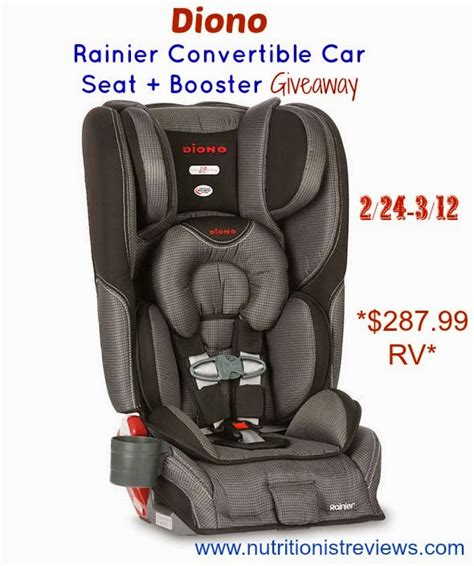 Carseat Giveaway - diono rainier car seat giveaway the nutritionist reviews