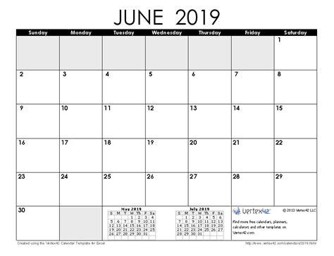 Calendar 2019 June 2019 Calendar Templates And Images