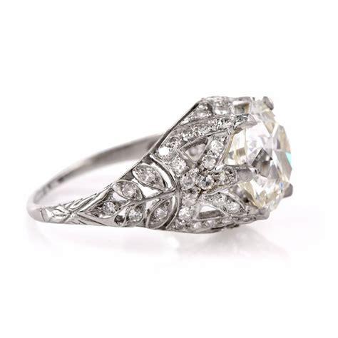 antique 3 98 carat platinum filigree engagement