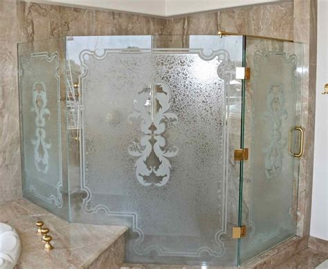 bathroom with glass doors glass shower doors sans soucie art glass