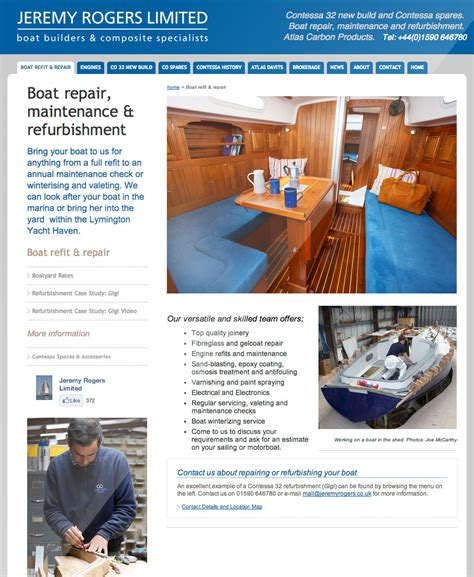 rogers boat repair jeremy rogers website by tinstar design