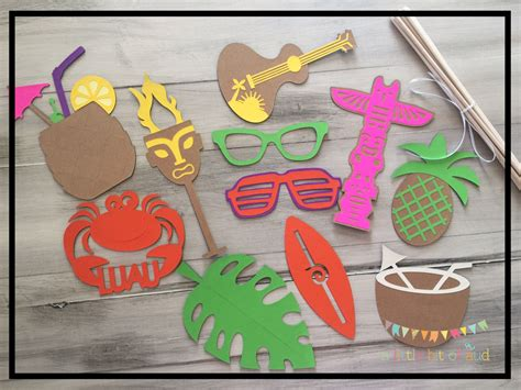 luau party decorations luau photo booth props hawaiian party