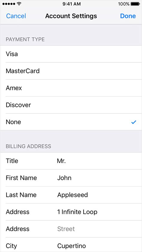 make payment on store card 10 ios10 iphone6 settings itunes app store apple id