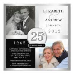 25th anniversary invitations 2700 25th anniversary announcements invites