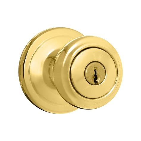 shop kwikset signature cameron polished brass keyed