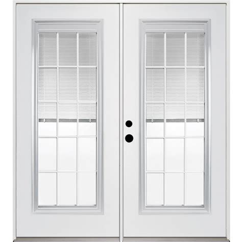 Lowes Patio Door Blinds Shop Reliabilt 71 375 In Blinds Between The Glass Steel Inswing Patio Door At Lowes