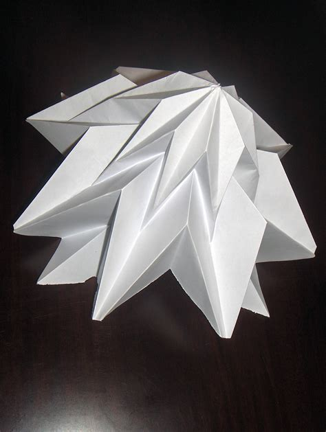 Origami Structures - 3 dimensional origami folded structures by tewfik tewfik