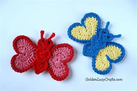crochet butterfly knit crochet and fiber addict pinterest 1000 images about appliques on pinterest free pattern