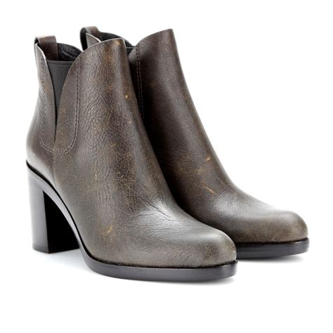 wang boots wang irina leather ankle boots in brown lyst