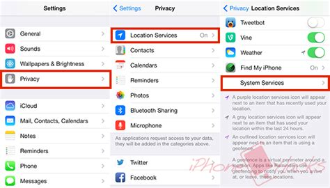 disable frequent locations tracking  iphone
