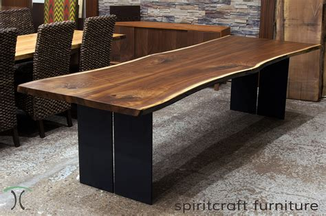Black Kitchen Island With Stainless Steel Top Live Edge Slab Dining Tables Walnut Slabs And Tops