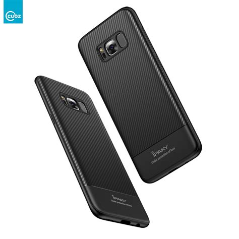 Sale Ipaky Carbon Fiber Samsung Galaxy S8 Plus Soft Series husa samsung galaxy s8 plus cubz ipaky carbon fiber black