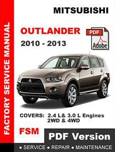 best auto repair manual 2011 mitsubishi outlander free book repair manuals mitsubishi outlander manual ebay