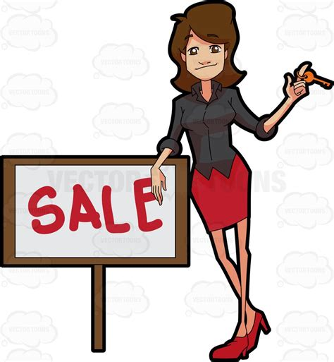 Janelle Brown Real Estate Broker Also Search For A Real Estate Broker Closing A Sale Deal Of A Property Clipart Vector