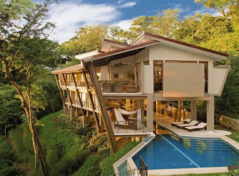 a vacation home in the jungles of costa rica