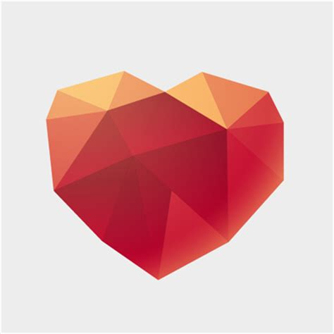 origami vector tutorial free vector of the day 474 origami heart pixel77