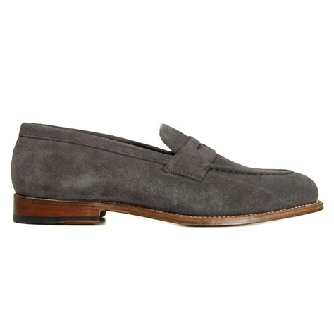 lloyd loafers grenson shoes lloyd suede loafer in charcoal
