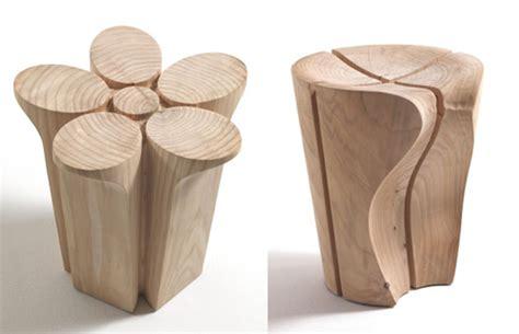 Chagne Cork Bar Stools by Solid Wood Stools By Karim Rashid For Riva1920