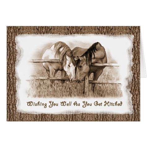 8 Cards To Send For A Wedding by Getting Hitched Horses Wedding Congratulations Card Zazzle
