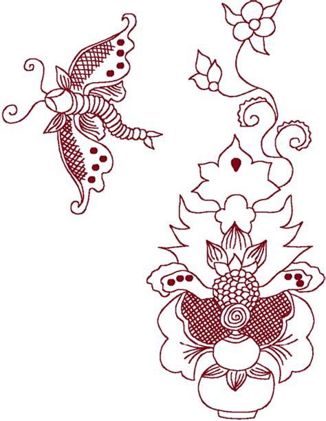 redwork oriental flora 1 embroidery design redwork oriental flora 3 embroidery design