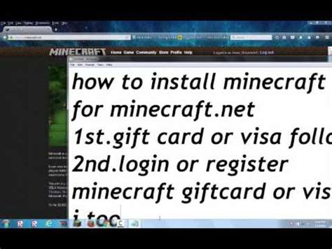 How To Get A Minecraft Gift Card For Free - how to get minecraft for money or gift card youtube
