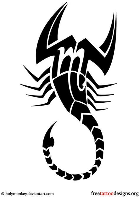 zodiac symbol and tribal scorpion mind blowing black ink tribal scorpio design