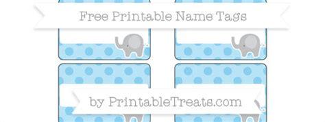 printable elephant name tags free baby blue polka dot elephant name tags printable