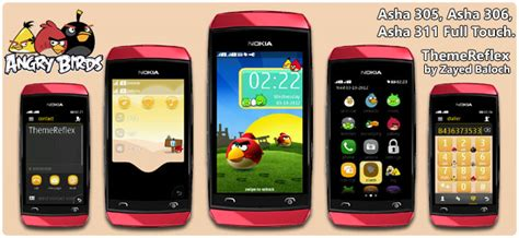 themes of nokia asha 306 angry birds theme for nokia asha 305 asha 306 asha 308
