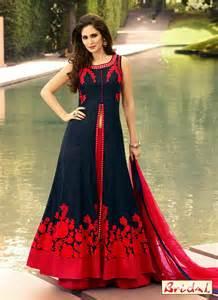 Home 187 lehenga choli 187 peppy art silk navy blue and red designer