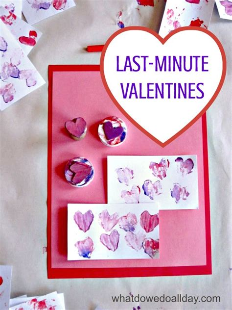 last minute valentines easy kid made valentines for the last minute