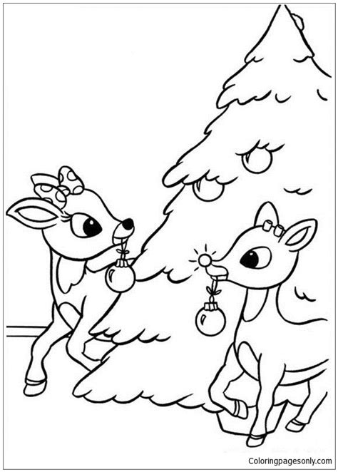 reindeer coloring pages online rudolph the red nosed reindeer coloring page free