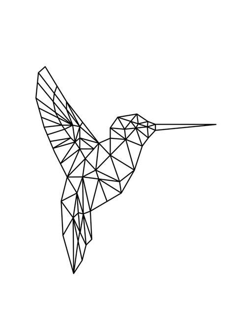 geometric hummingbird tattoo geometric hummingbird hustle living