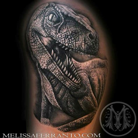 velociraptor tattoo by melissa ferranto tattoos