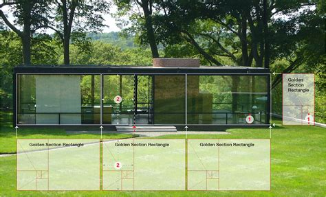 glass house section philip johnson s glass house golden section analysis on