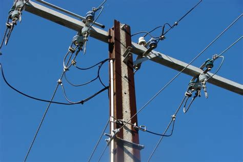 electric pole wires overhead wires on a power pole abc news australian