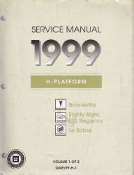 online auto repair manual 1999 oldsmobile lss engine control 1999 pontiac bonneville oldsmobile eighty eight lss buick lesabre 2 volume set