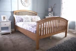 High Beds Frames Gfw Madrid Wooden High Foot End Bed Frame In Oak Beds