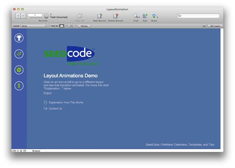 Filemaker Layout Animation | go to layout animation in filemaker 13 seedcode